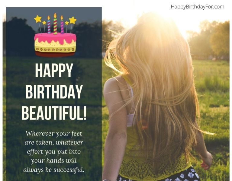 99 Birthday Wishes & Messages That Focus on Saying Happy Birthday Beautiful