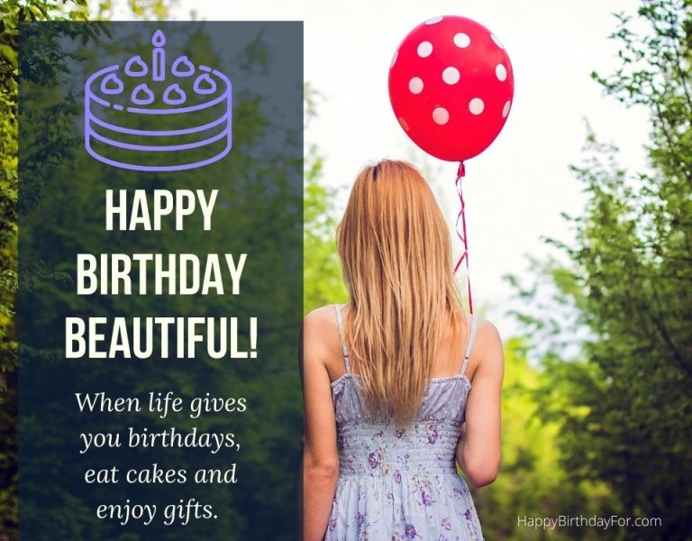 Happy Birthday beautiful wishes messages image her girlfriend daughter lover wife female friend lady