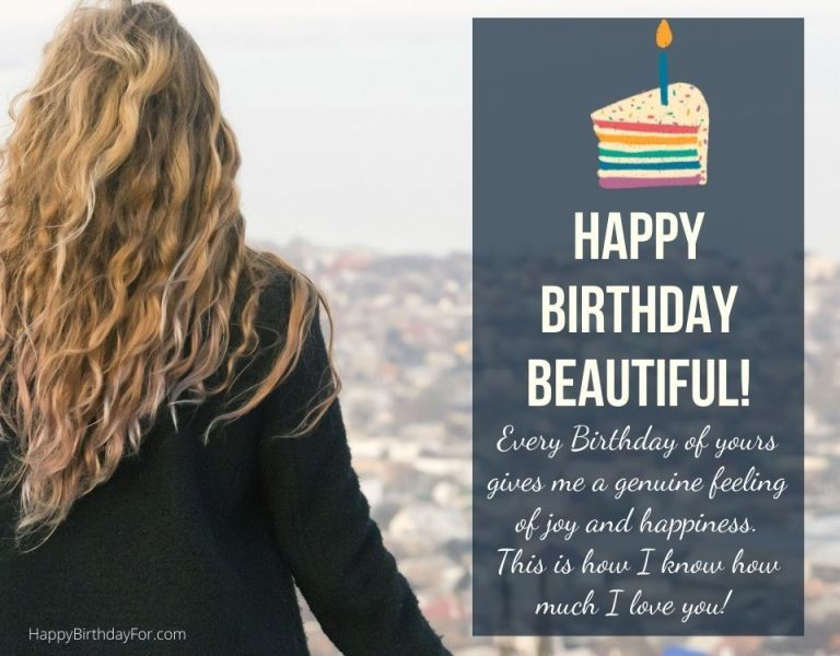 Happy Birthday beautiful wishes messages images her girlfriend daughter lover wife female friend lady