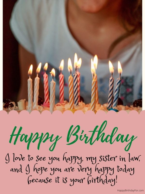 Happy Birthday images for sister in law wishes