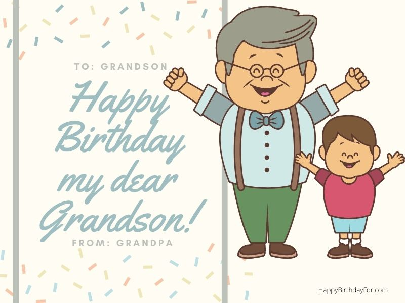 Happy birthday grandson wishes images