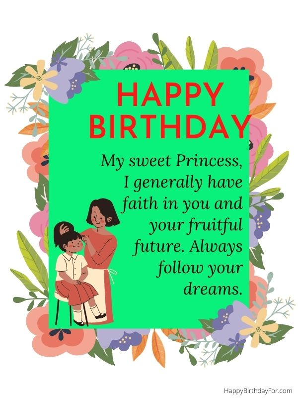 Happy birthday wishes for daughter from mom messages image