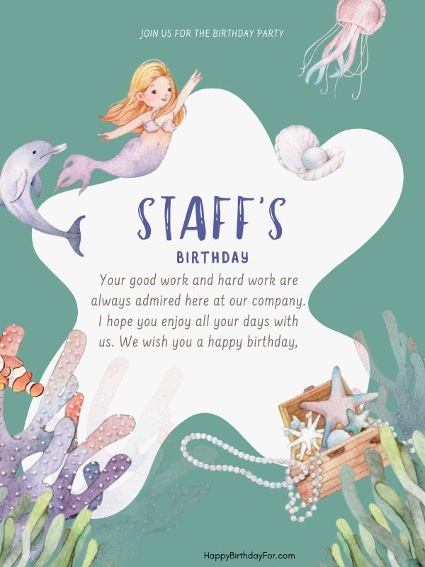 Happy birthday wishes for staff image