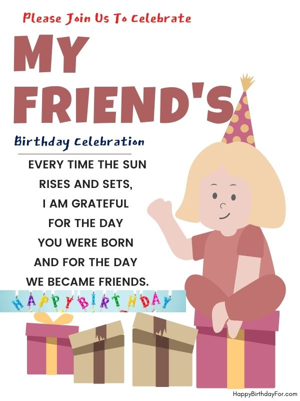 Happy birthday wishes image for good friends