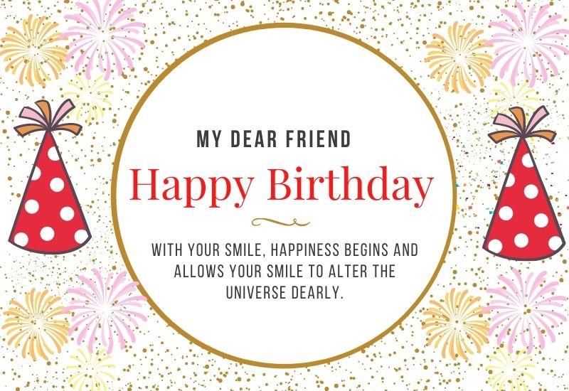 My Dear Friend Birthday Wishes