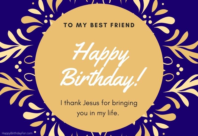 Religious Happy Birthday Wishes for a friend image