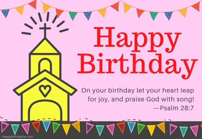 Religious Happy Birthday Wishes for a friend message image