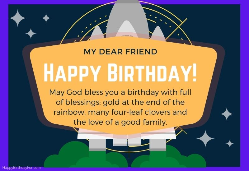 Religious Happy Birthday Wishes for a friend