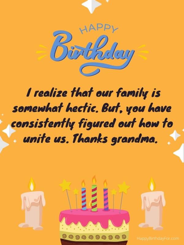 Wishes To Say Happy Birthday Grandma