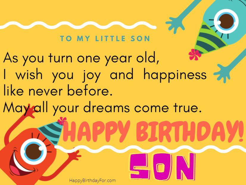 happy birthday son wishes image