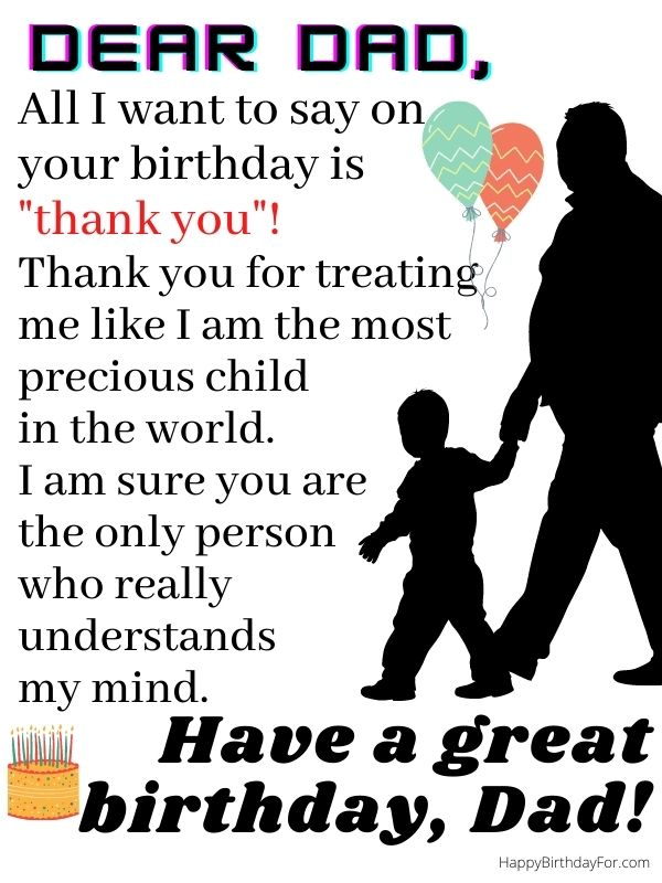 happy birthday wishes for my dad image