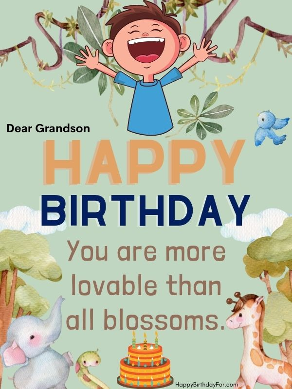 happy birthday wishes image for grandson