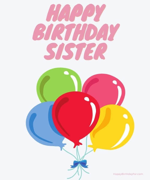 Happy Birthday Cards For Sister