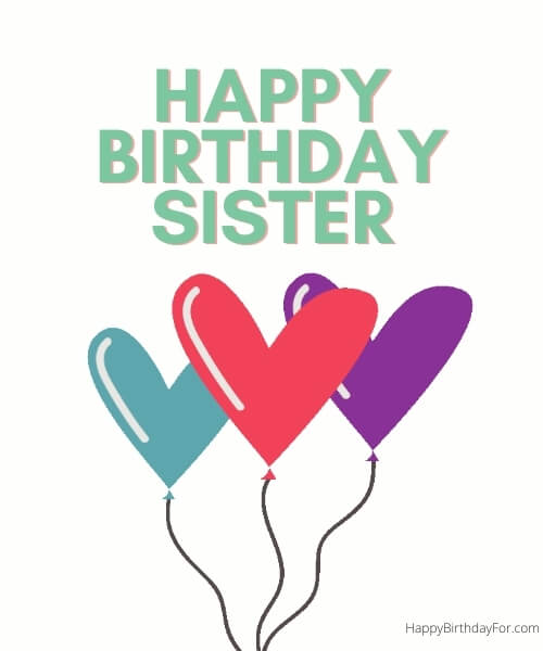 Happy Birthday Images For Sister Wishes
