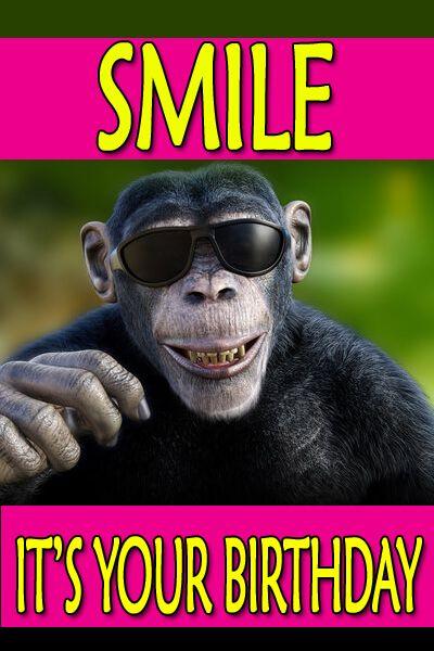 Happy Birthday Meme Monkey Eyeglass