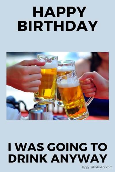 Happy Birthday Meme beer