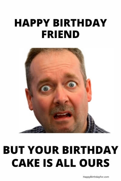 Happy Birthday Meme cake