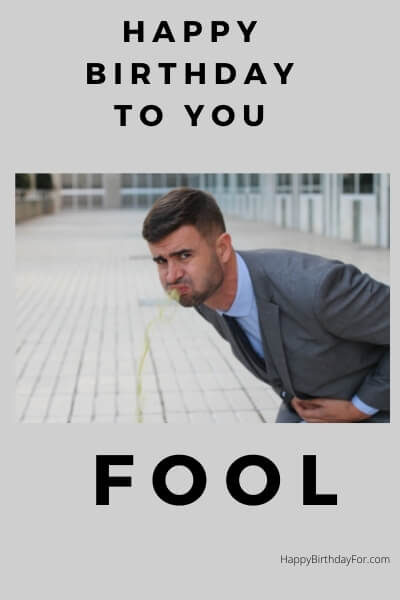 Happy Birthday Meme fool