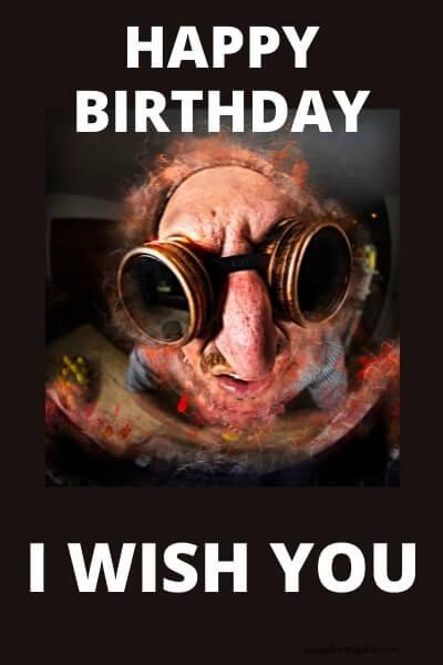 Happy Birthday Meme scary image