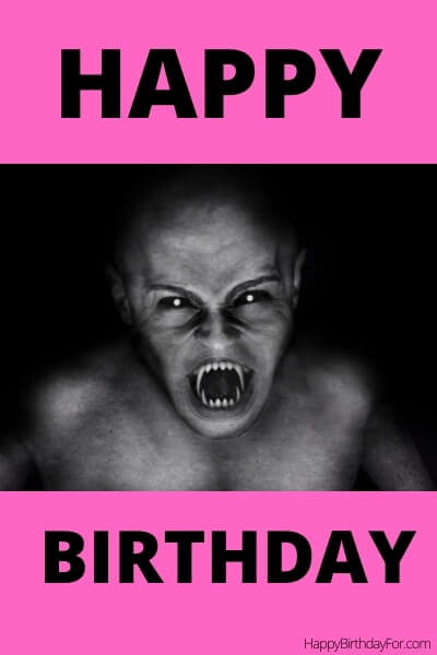 Happy Birthday Meme scary