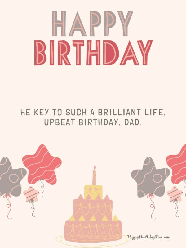 birthday wishes for dad from daughter---