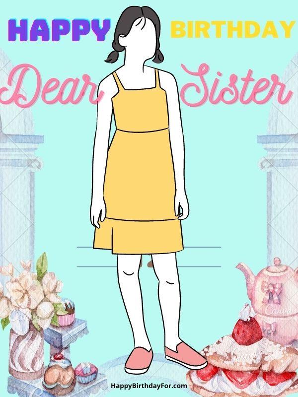 happy birthday dear sister image