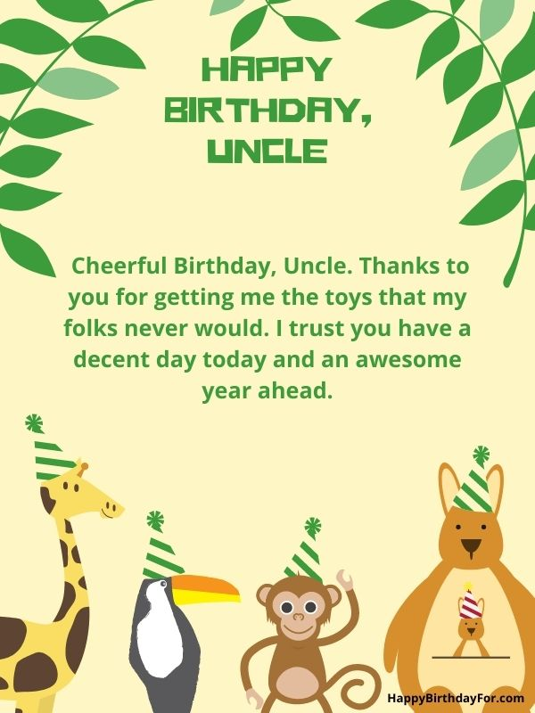 Happy Birthday Wishes for your uncle